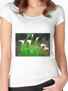 Calla Lilies Women's Fitted Scoop T-Shirt
