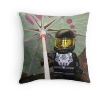 Cyborgs Need Vacations Too Throw Pillow