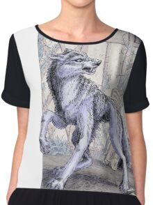 The Wolf at the Door Chiffon Top