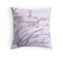 Purple Lavender Peaceful Tree Throw Pillow