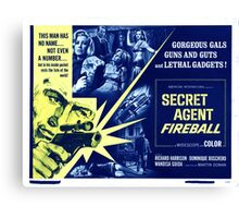 Secret agent fireball Canvas Print