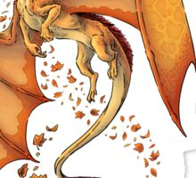 The Dragon of Autumn (framed) Sticker