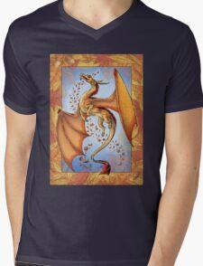 The Dragon of Autumn (framed) Mens V-Neck T-Shirt