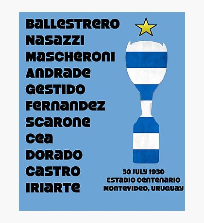 Uruguay 1930 World Cup Final Winners Photographic Print