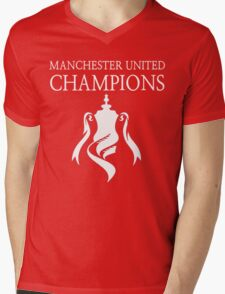 Manchester United Champions Fa Cup 2016  Mens V-Neck T-Shirt