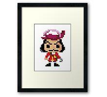 8-Bit Hook Framed Print