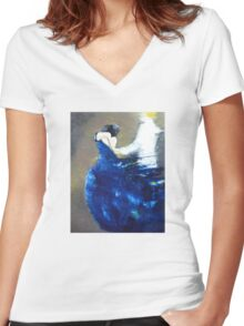 Dance with Me Women's Fitted V-Neck T-Shirt