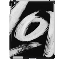 Bold White Love Word - Hand Lettering - Zen Calligraphy Card + Poster iPad Case/Skin