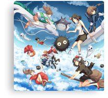 Studio Ghibili Family Canvas Print
