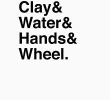 clay & water & hands & wheel Unisex T-Shirt