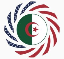 Algerian American Multinational Patriot Flag One Piece - Short Sleeve