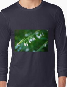 Delicate White Flowers Long Sleeve T-Shirt