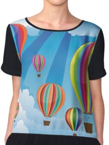 Air Balloons in the Sky 6 Chiffon Top