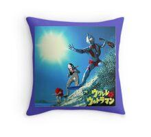 Surf Ultraman Throw Pillow