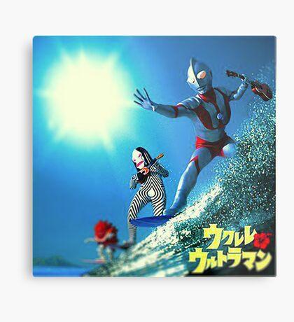 Surf Ultraman Metal Print