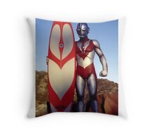 Surf Ultraman 1 Throw Pillow