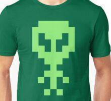 Pixel Space Alien - Light Green Unisex T-Shirt