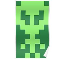 Pixel Space Alien - Light Green Poster