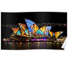 Butterfly Sails - Sydney Vivid Festival - Australia Poster