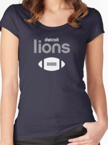 Detroit Lions Women's Fitted Scoop T-Shirt