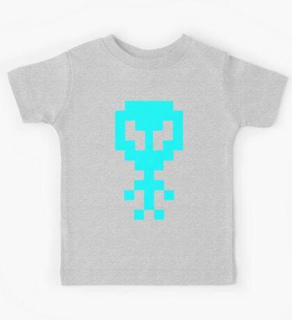Pixel Space Alien - Light Blue Kids Tee