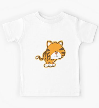 Cute baby tiger Kids Tee