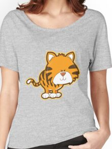 Cute baby tiger Women's Relaxed Fit T-Shirt