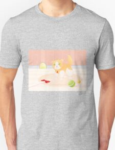 Cat playing in home Unisex T-Shirt