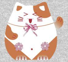 Fat cat sitting art One Piece - Short Sleeve