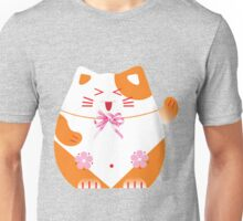 Fat cat sitting art Unisex T-Shirt