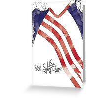 2000 USA Olympic Team Finals Leotard Greeting Card