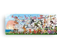 Studio Ghibli Family Canvas Print