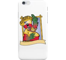 Cock in yellow frame iPhone Case/Skin