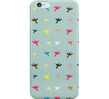 Different color birds pattern iPhone Case/Skin