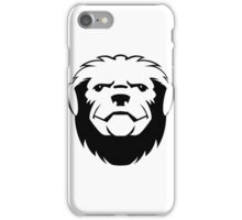 Honey badger head art iPhone Case/Skin