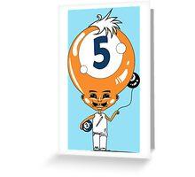 5 Head Greeting Card