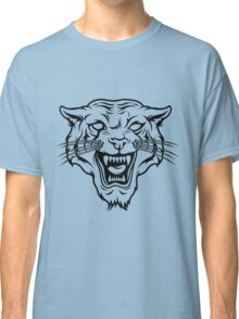 Angry tiger silhouette head Classic T-Shirt