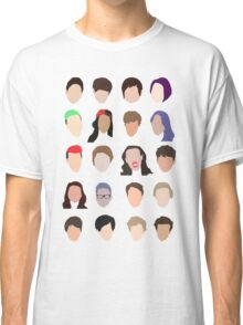 youtuber flat design collage Classic T-Shirt