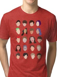 youtuber flat design collage Tri-blend T-Shirt