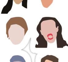 youtuber flat design collage Sticker