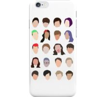 youtuber flat design collage iPhone Case/Skin