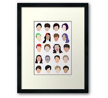 youtuber flat design collage Framed Print