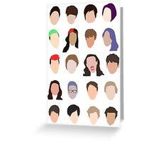 youtuber flat design collage Greeting Card