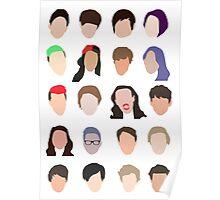 youtuber flat design collage Poster