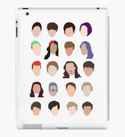 youtuber flat design collage iPad Case/Skin