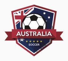 Creative soccer Australia label Baby Tee