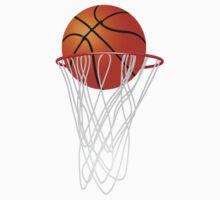 Basketball hoop and ball Kids Tee
