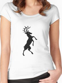 Elk standing silhouette Women's Fitted Scoop T-Shirt