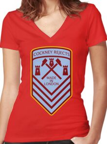 Cockney Rejects Made In London Women's Fitted V-Neck T-Shirt