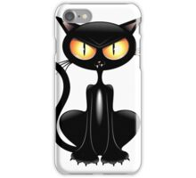Amusing black cat iPhone Case/Skin